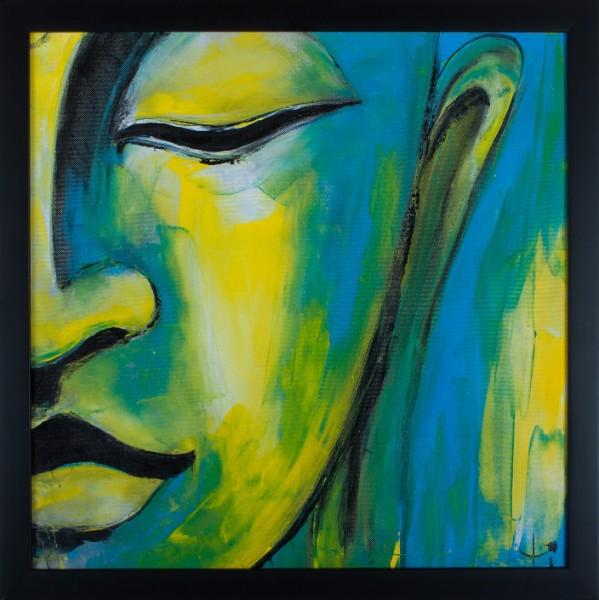 "Serenity 1. 21.5"" x 21.5"". Framed. Oil on canvas"