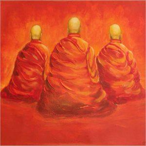 Meditation Monks Art