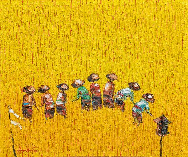 Yellow Paddy Fields