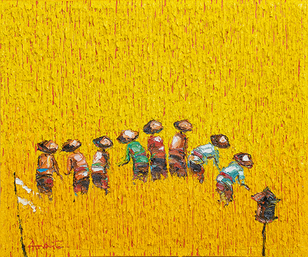 Yellow Paddy Fields